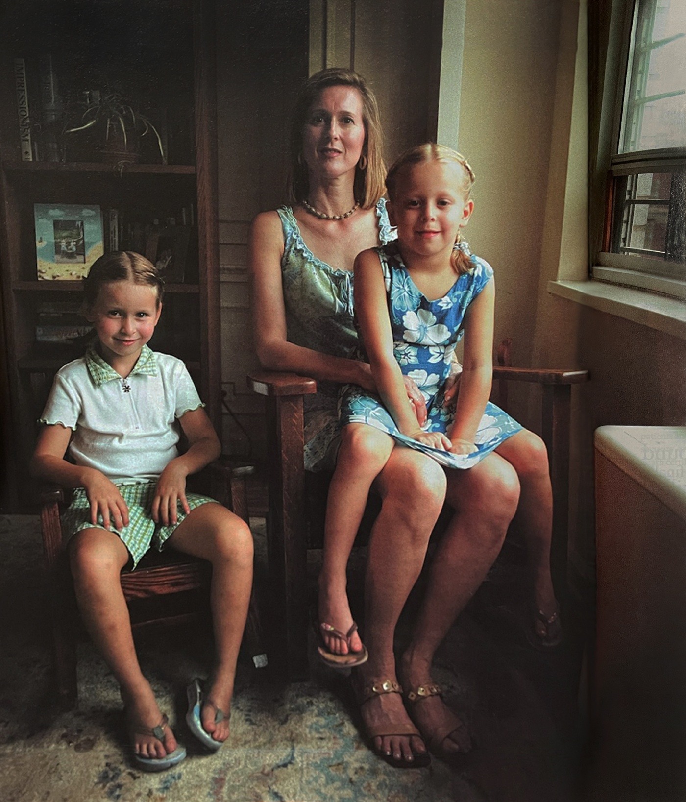portrait of Judy Bram Murphy and her daughters