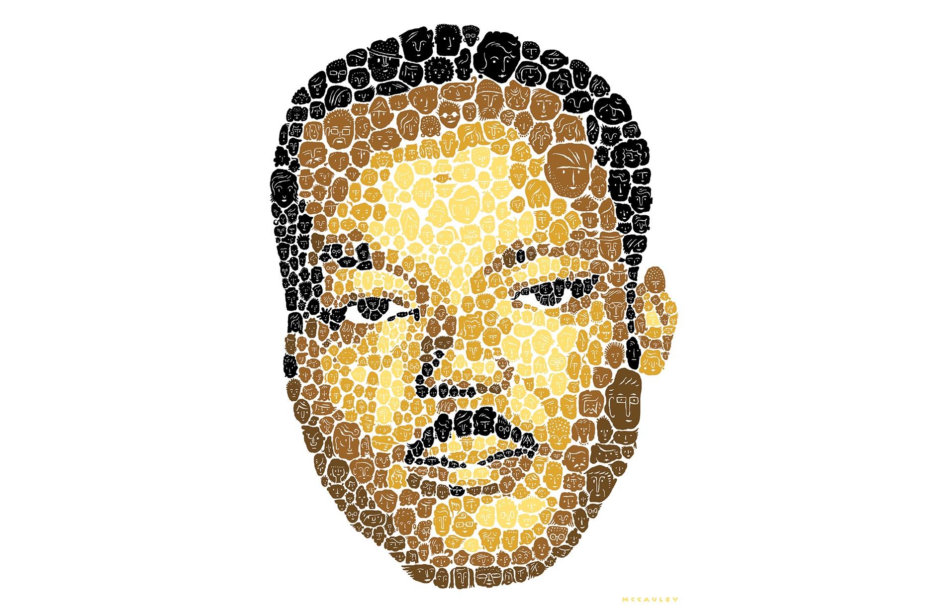 portrait of MLK