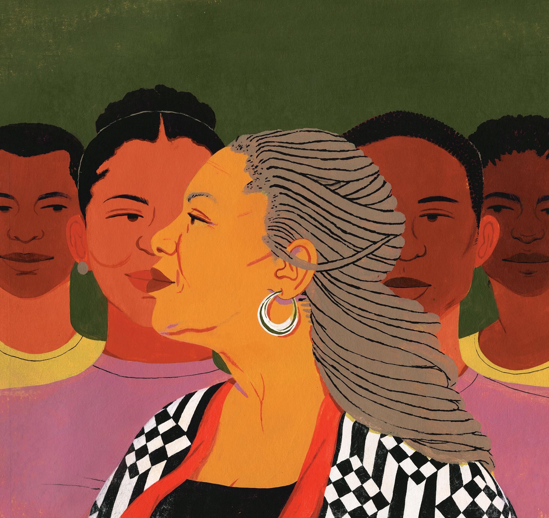 Illustration of Toni Morrison