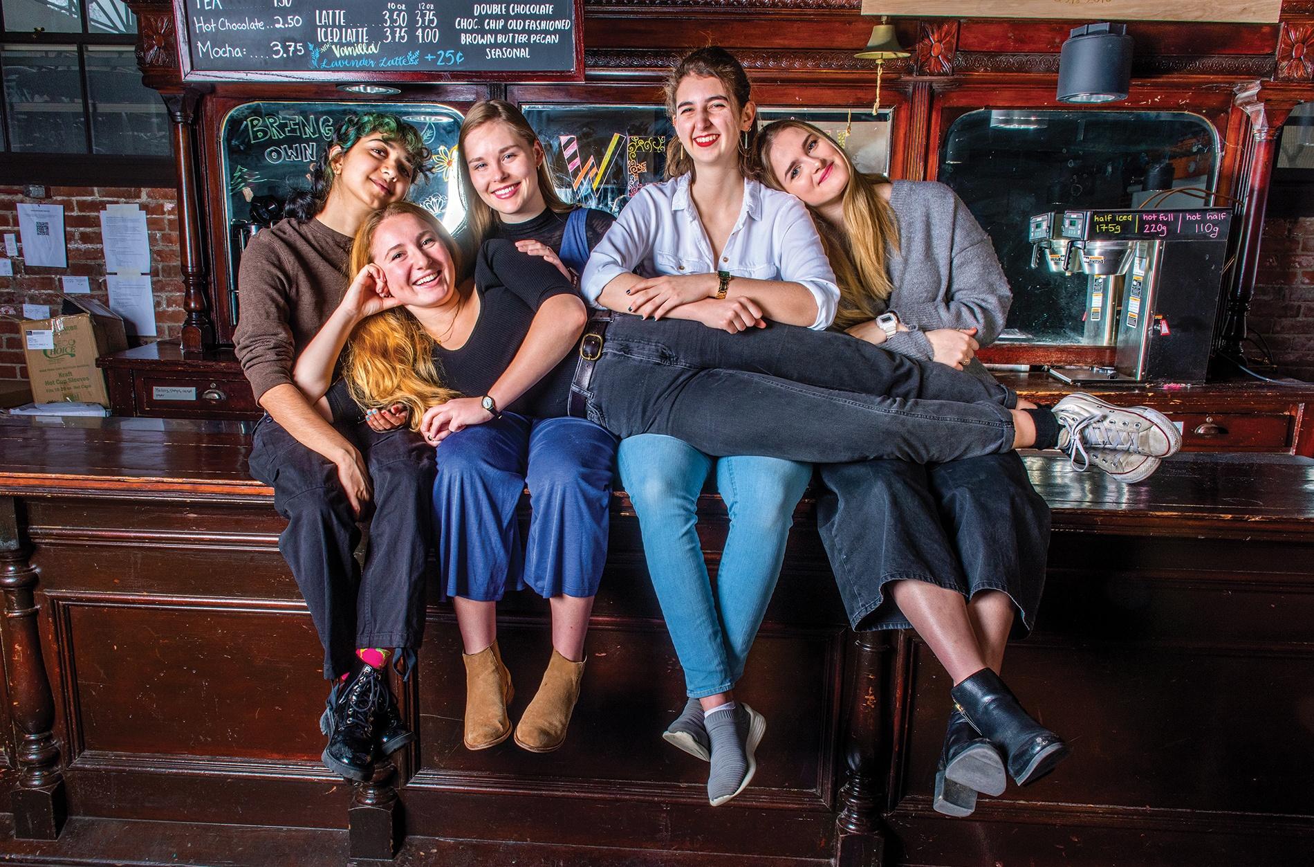 Sindura Sriram '21,  Suzanne Antoniou '20, Allie Arnold '20, Zara Norman '22, Elisheva Goldberg '22.