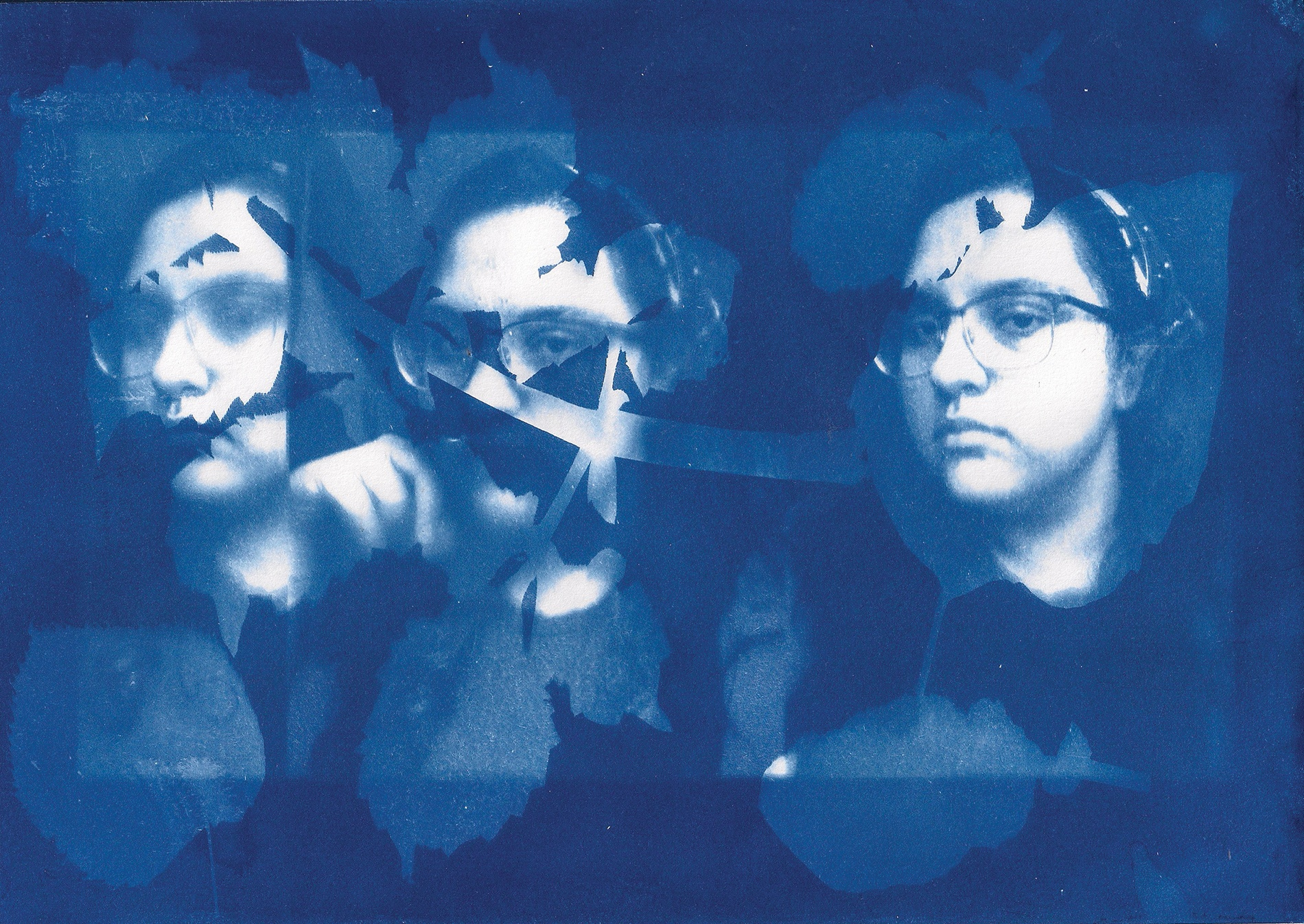 Hasiba Zandi cyanography self-portrait