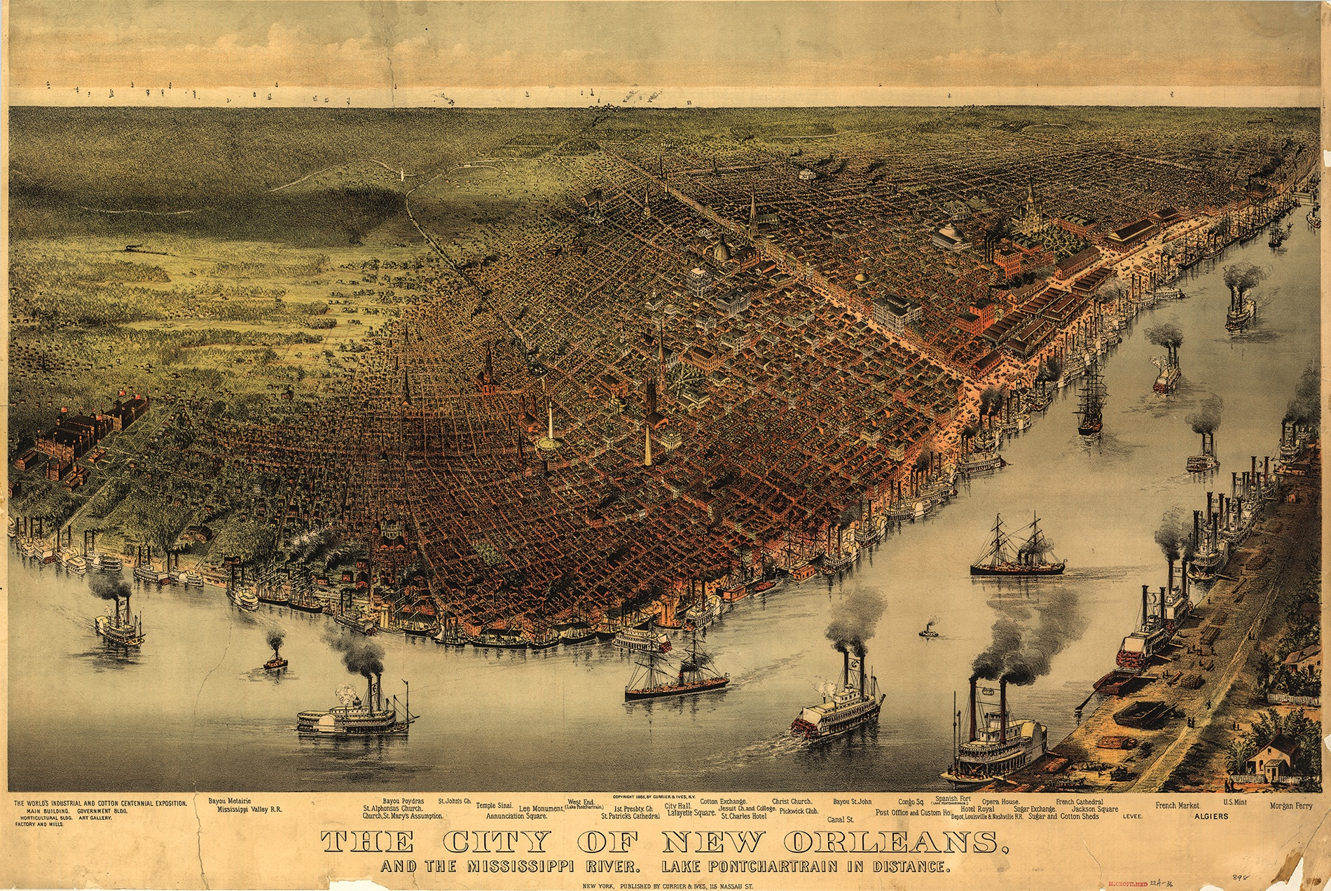 1885 map of New Orleans