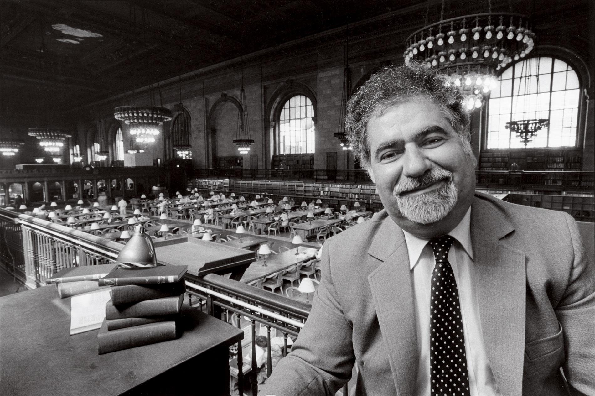 portrait of Vartan Gregorian in the NYPL
