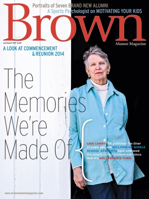Cover of the July/August 2014 issue of Brown Alumni Magazine