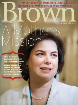 Cover of the January/February 2014 issue of Brown Alumni Magazine