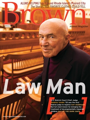 Cover of the January/February 2015 issue of Brown Alumni Magazine