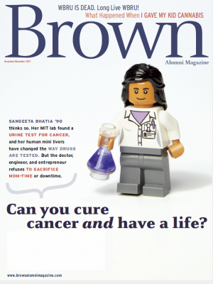 Cover of the November/December 2017 issue of Brown Alumni Magazine