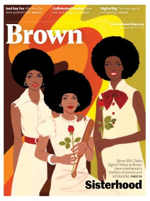 January–March 2021 Brown Alumni Magazine Cover illustration by Bijou Karman