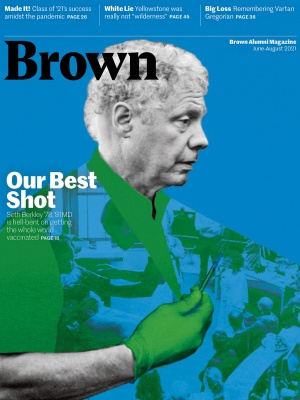 Image of JJA 21 Brown Alumni Magazine cover