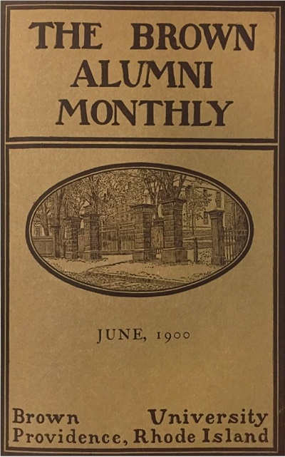 Cover of the Brown Alumni monthly issue from 1900