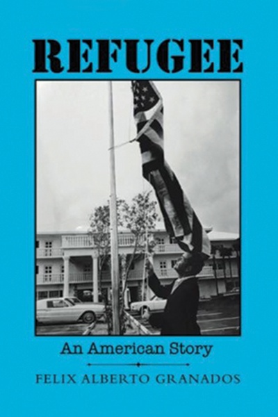 Book cover image of man beneath flagpole raising American flag.