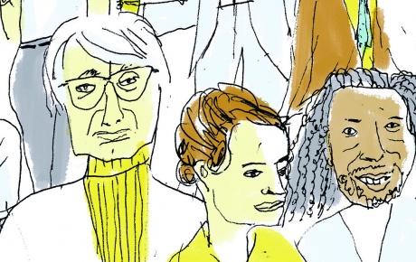 Illustration of writers