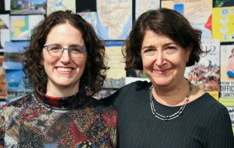 Image of playwright Lila Rose Kaplan and director Melia Bensussen of play We All Fall Down
