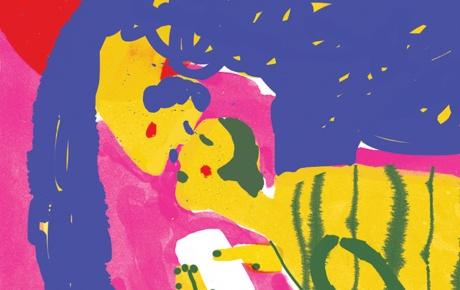 Illustration of two lovers (after Chagall)