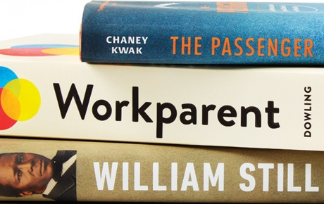 Image of books by Chaney Kwak '02, William C. Kashatus '84, and Daisy Dowling '96
